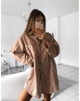 Women's Pink Long Shirt - Julie Moda