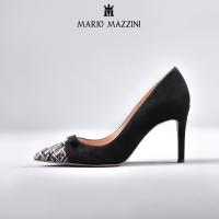 Women's black suede stiletto shoe - Mario Mazzini