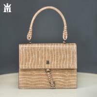 Women's beige leather handbag - Mario Mazzini
