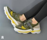Women's green leather sneaker shoe - Mario Mazzini