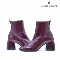 Women's maroon leather shoe - Mario Mazzini