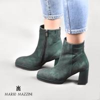 Women's green suede shoe - Mario Mazzini