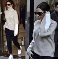 Winter beige sweatshirt for women - Julie Moda