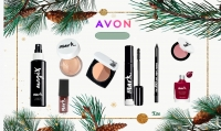 Avon blush + lipstick + eye shadow + nail polish + mascara + foaming foundation + blush contour + mark makeup fixture