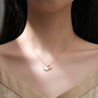 Leaf shaped 925 silver necklace