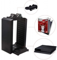 Controller Charging Dock and Console Stand for PS4