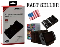 Charging Stand 6 Game Card Storage Pro Controller Dock for Nintendo Switch