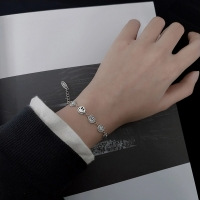 925 silver bracelet in the form of laughing smile