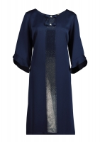 Blue dress with shiny silver line in the middle