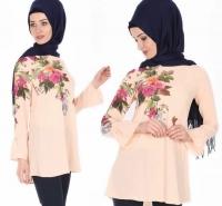 Women's Long Onion Pink Shirt - Julie Moda
