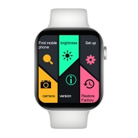 FK78 Smart Watch with Two Bands (White, Gray)