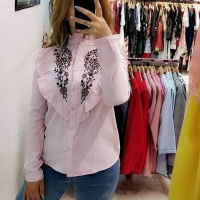 Pink striped shirt - Julie Moda