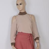 Women's Beige Shirt - Julie Moda