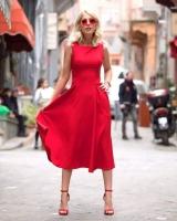 Red dress for women - Julie Moda