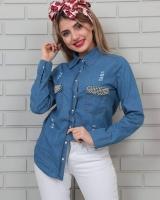 Women's jeans shirt - Julie Moda