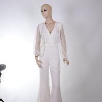 Women's White Jumpsuit - Julie Moda