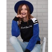 Black winter sweatshirt for women - Julie Moda