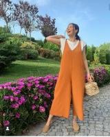 Women's Brown Jumpsuit - Julie Moda
