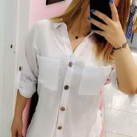 Summer Shirt in White Color for Women - Julie Moda