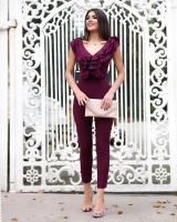 Women's Violet Jumpsuit - Julie Moda