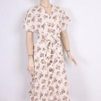 Beige midi dress for women - Julie Moda