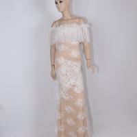 Long white dress for women - Julie Moda