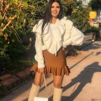 Women's White Sweatshirt - Julie Moda