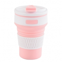 cup of water and juices, a light pink color