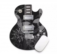 black and white guitar pad mouse
