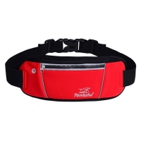 Sports waist bag, red color