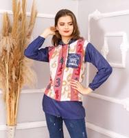A women's shirt with a distinctive design