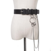 Leather belt for women with a wonderful design