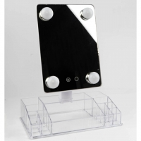 360 ° rotatable portable mirror with storage base for makeup