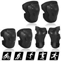 Knee pad, elbow and wrist black color