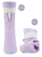 foldable water bottle is light purple