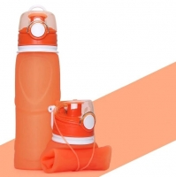 Collapsible water bottle orange color