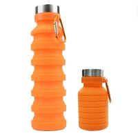 foldable water bottle is orange
