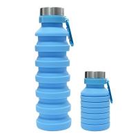 Blue foldable water bottle