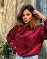 Maroon shirt for women - Julie Moda