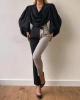 Women's fabric trousers - Julie Moda