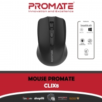 PROMATE CLIX 8 2.4GHz Wireless Ergonomic Optical Mouse