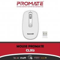 Promate Clix-3 Wireless Optical Mouse With Precision Scrolling White