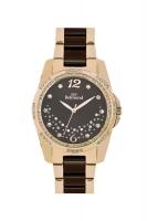 Women's Brown Gold Wristwatch