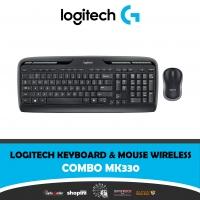 Logitech MK330 Wireless QWERTY Keyboard and Mouse Combo Black