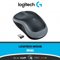 Logitech M185 Wireless Mouse, 2.4GHz with USB Mini Receiver