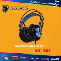 SADES RGB Gaming Headset -Locust Plus- 7.1 Surround Sound USB Input Plug Over-Ear Headphones with Noise Isolating Microphone