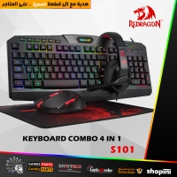 Redragon S101 Wired RGB Backlit Gaming Keyboard and Mouse, Gaming Mouse Pad, Gaming Headset Combo All in 1
