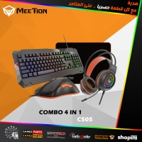 MEETION Gaming Keyboard Mouse Headphone Set with Mouse pad C505