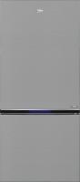 Beko refrigerator - 28 feet - nickel color