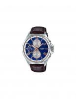 Casio Men`s Standard Analog Dark Brown Leather Watch